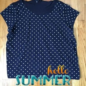 Gap Navy & White Polka Dot Shirt size XXL